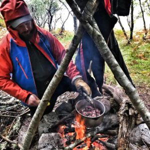 Woodland bushcraft stag weekend