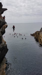 Taking the leap from the big jump, Coasteering, Wales