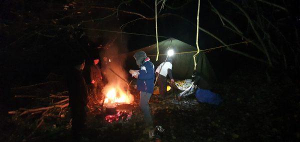Woodland bushcraft stag weekend