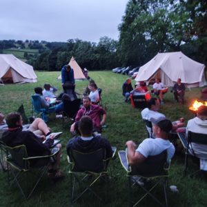 Boutique camping adventure stag