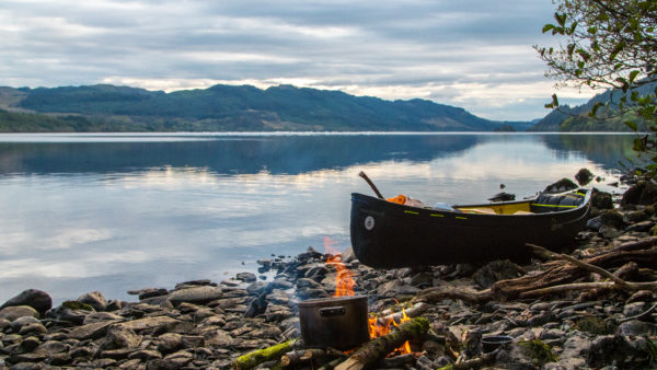 Scottish wilderness canoe adventure